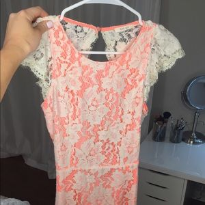Dresses - NWT Coral lace dress with open back